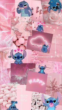 Pink background with stitch
