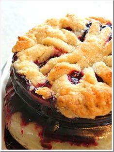 Blueberry pie jars