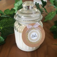 Our large, vintage-style soy candle jars are packed with 50 hrs + of delicious smelling burn time!