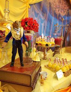 DECORAÇÃO FESTA A BELA E A FERA...BEAUTY AND THE BEAST BIRTHDAY PARTY IDEAS