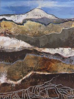 Geological-Strata topography> Modoc Stronghold, Oil painting on canvas