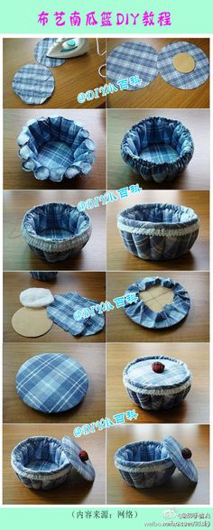 Great Idea....could convert this into many different things...pin cushion, Bread basket.....