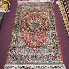 Hand knotted silk rug # Rug No.: P0392 # Quality: 230L (368kpsi) # Size: 3x5ft (122x183cm) # Material: 100% Silk # wholesale Price: $675/piece # If you have any interests, please email to sales@bosicarpets.com             Hand-madecarpet#orienatlrug#oldrug#Kashmirrug#Chinacarpet#Iraniancarpet#boteh#HeratiGul# Isfahan#Tabriz#Qum#Nain#Kashan#Kerman#Bijar#Sarouk#Caucasian#antiquecarpet#bosicarpet