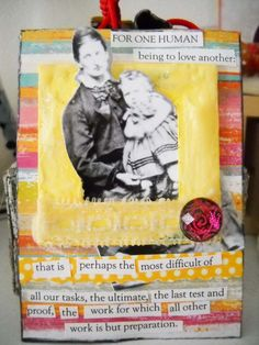 "#ATC (mixed media card) ""To Love Another"""