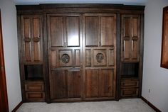 Oak Murphy Bed - very nice rich oak design