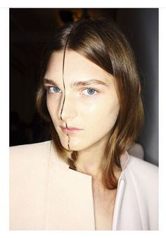 Custom Face Jewelry by Sarah & Sebastian for Dion Lee NYFW SS16