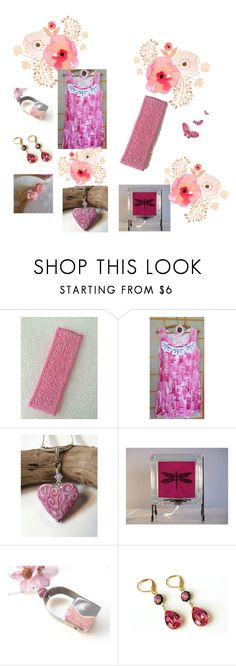 """""""Pink gifts"""" by keepsakedesignbycmm ❤ liked on Polyvore featuring etsy, jewelry and accessories"""