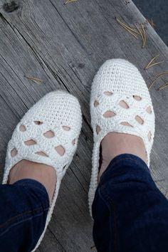 Вилла Hat: Вязаные летние туфли - Венеция тапочки.