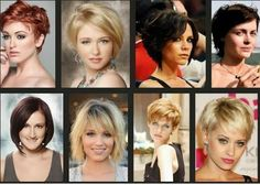 Wonen Short Hairstyles for Thick Hair #shorthair, #hair