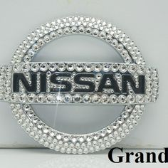 Custom handmade Nissan Emblem with Swarovski Elements/Crystals, any other Emblem wants to bling, please contact us for details!!
