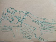 Emil Resting, 2 views - you get both.   Mom's father from Sweden; copies, pen and ink.