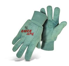 Boss Guard 313 Green Ape Chore Cotton Work Gloves, Large (Case of 72 Pairs) > 18 Ounce napped cotton Double woven for warmth and longer wear High quality construction