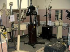 Collection of old x-ray equipment stored at Glenside Hospital