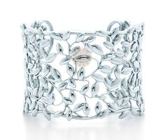 Olive Leaf Wide Silver Cuff - handmade jewelry ideas.