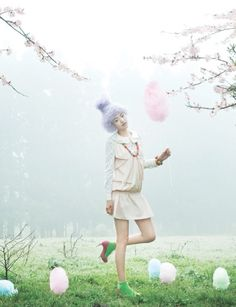 Easter fashion shoot  - like the cotton candy
