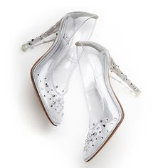 Laura Osnes will get to debut these Stuart Weitzman custom-designed glass slippers (or, more accurately, polyvinyl-chloride pumps bedazzled with Swarovski crystals). Wouldn't want to lose one of these, would you? Rodgers And Hammerstein's Cinderella, Cinderella Broadway, Cinderella Slipper, Cinderella Shoes, Cinderella Wedding, Most Expensive Shoes, Laura Osnes, Prom Heels, Pumps Heels