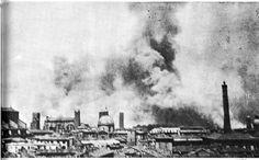 25 settembre 1943: colonne di fumo sulla città dopo un violento bombardamento foto di Cineca  http://certosa.cup2000.it
