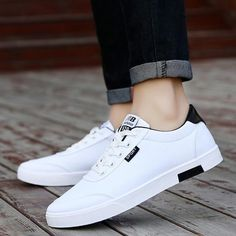 White shoes sneakers - Men shoes 2018 new fashion casual students white board shoes men trend of breathable canvas shoes sneakers zapatos hombre Sneakers Shoes, Casual Sneakers, Men's Shoes, Flat Shoes, Tieks Shoes, Sneakers Adidas, Baby Shoes, Mens Fashion Shoes, Sneakers Fashion