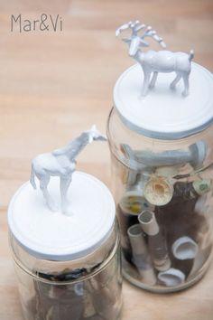 Manualidades para niños: paso a paso para hacer frascos de cristal con animalitos