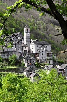 Kostenloses Bild auf Pixabay - Bergdorf, Tessin, Alpen, Steinhaus