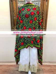 To shop please visit our website 📲www.pinkphulkari.com    💖💖💖we ship worldwide Love Craft, News Design, Kimono Top, Ship, Website, Unique, Crafts, Color, Shopping