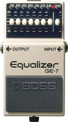 BOSS GE-7 Graphic Equalizer The BOSS GE-7 is the graphic equalizer customized specifically for guitarists. Compact and built tough, it's made for your pedalboard - live or in the studio. The GE-7's eq