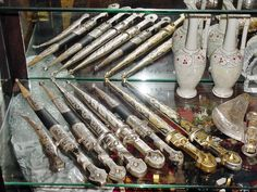 #BadrAdduja Old Silver Antiques #Daggers Collection #AntiquesDisplay #Antiques