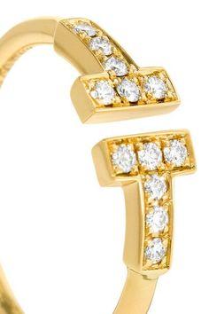 Tiffany & Co. - T Wire 18-karat Gold Diamond Ring -