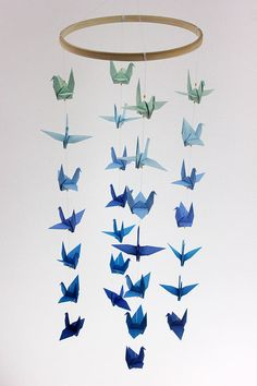 Washi Paper 100 Origami Cranes Japanese Anniversary Gift Origami Paper Cranes 7.5cm 3 inches SET C Origami Crane for Wedding decor