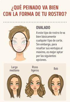 Cómo elegir el peinado ideal según la forma de tu rostro. Cortes Para Rostro  OvaladoCortes De Cabello Para Caras OvaladasCortes ... 2bf20284758a