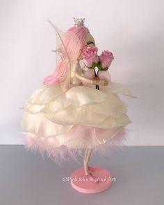 Muñeca de hadas de princesa flor ornamento de Ángel regalo