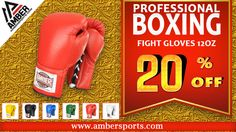 These Amber Professional Fight Gloves are all Leather Construction. Well padded for protection. Filled with layered closed cell foam padding for your safety. Use this coupon code [3d348210] and get 20% Off on all boxing gear at ambersports.com