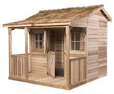 The Cedarshed prefabricated cottage includes hardware and plans. It comes in 3 sizes.