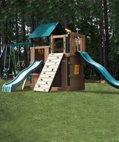 Green & Cedar Lookout & Climber Play Set