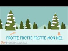 "French winter videos for kids. Simple lyric video with some helpful graphics for the song ""la neige tombe sur mon nez"" For classroom use French Christmas Songs, French Songs, Christmas Poems, Baby Songs, Kids Songs, Winter Songs For Kids, Teaching French Immersion, Learning French For Kids, French Classroom"
