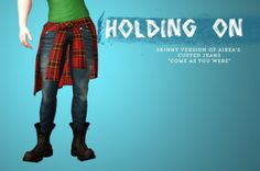 Hey Love! Skinny Version of Aikea's Cuffed Jeans Come As You Were by Shokoninio - Sims 3 Downloads CC Caboodle