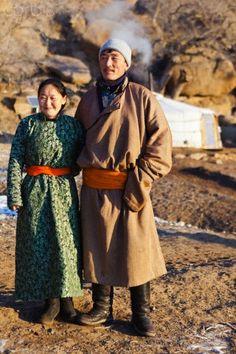 Mongolian Nomad Couple.  Mongolia (V)
