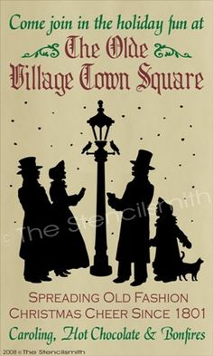70 - Carolers-70 christmas stencil carolers primitive the olde village town square spreading old fashion cheer sin