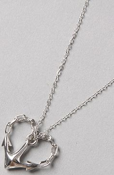 Like the necklace, but I'm liking the idea of a heart with the anchor as a tattoo more.