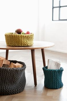 ooo, giant soft baskets, modern and functional