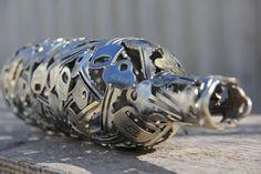 creative recycled art: Red Wine Key Bottle, Metal Sculpture by Moerkey, in Horsham, Australia $178 @Etsy 110918259