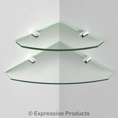#Multi pack #acrylic corner shelves - 2 shelves - #150mm and 200mm   (0003-002),  View more on the LINK: http://www.zeppy.io/product/gb/2/111113350695/