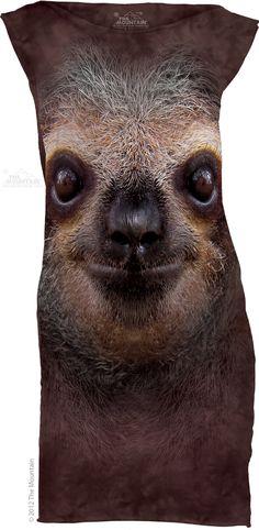 The Mountain - Sloth Face T-Shirt Mini Dress, $38.00 (http://shop.themountain.me/sloth-face-t-shirt-mini-dress/)