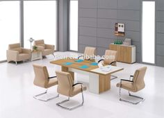 Cheap Price Factory Direct MDF Movable Conference Table , Office Furniture Conference Desk