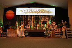 Jungle Safari stage at my church!