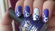 awesome 45 Easy Flower Nail Art Designs for Beginners - Pepino Nail Art