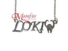 THOR Loki's Name and Helmet Necklace