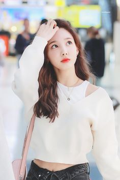 Kpop Girl Groups, Korean Girl Groups, Kpop Girls, Kpop Fashion, Korean Fashion, Airport Fashion, Twice Clothing, Twice Group, Jihyo Twice