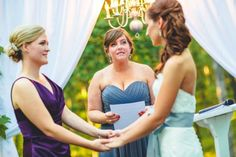 I scoured the interwebs to find pieces to make up our personalized wedding ceremony that was non-traditional, non-religious, and non-boring. We twisted some traditions and added our own flair (cham...