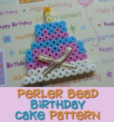 This is a step by step tutorial on how to make a Perler bead birthday cake-perfect for older troops celebrating Girl Scout Week! Add a magnet backing so it can be placed in a locker at school or refrigerator at home.